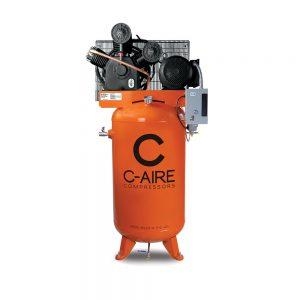 10 HP 120 Gallon Simplex Piston Air Compressor from C-Aire - A100V120-3230