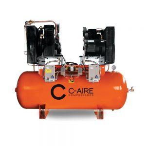 15 HP 240 Gallon Duplex Piston Air Compressor from C-Aire - A150D240-3230