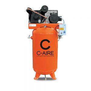 5 HP 80 Gallon Simplex Piston Air Compressor from C-Aire - A050V080-1230