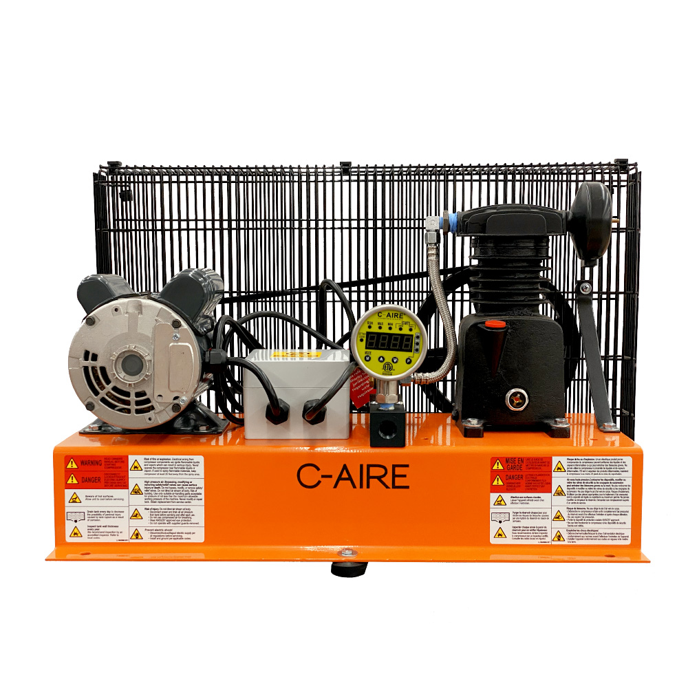 1 HP S244B Series Fire Protection Air Compressor by C-Aire