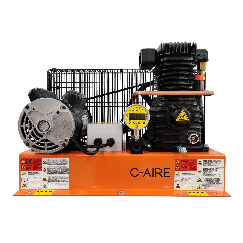 2 HP S910B Series Fire Protection Air Compressor by C-Aire - S910B-HD1-230PD